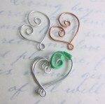 Filigree heart components